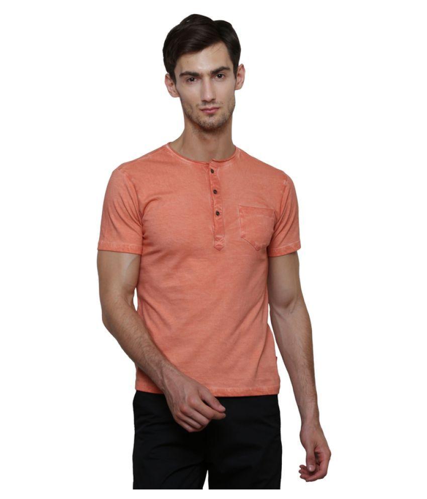 LE Bourgeois Orange Henley T-Shirt