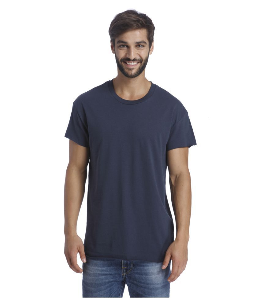 Selected Navy Round T-Shirt
