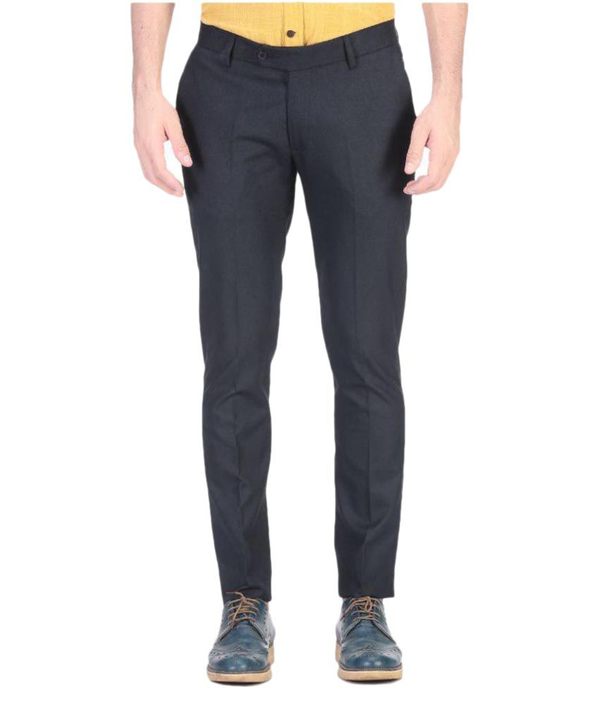 Vandnam Fabrics Black Slim Fit Trouser