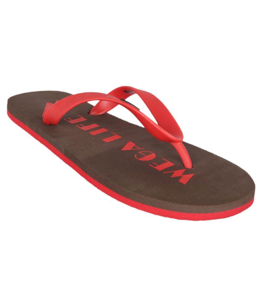 Wega Life Red Slippers