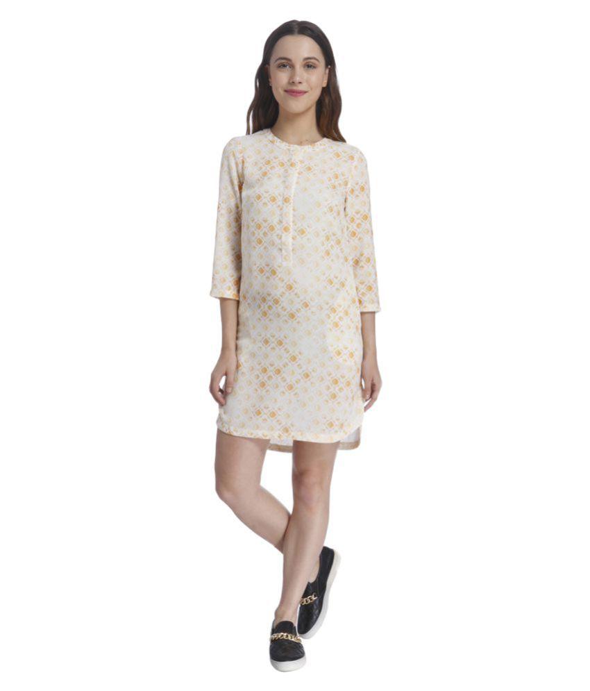 Vero Moda Beige Polyester Asymmetric dress