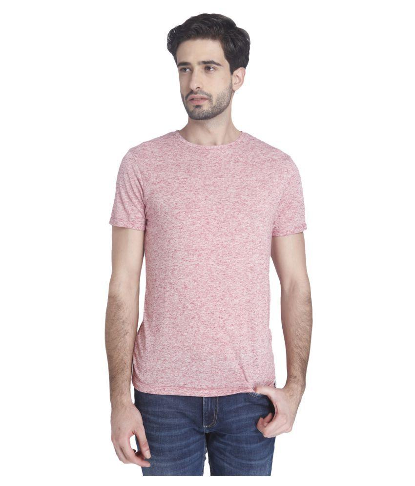 Jack & Jones Pink Round T-Shirt