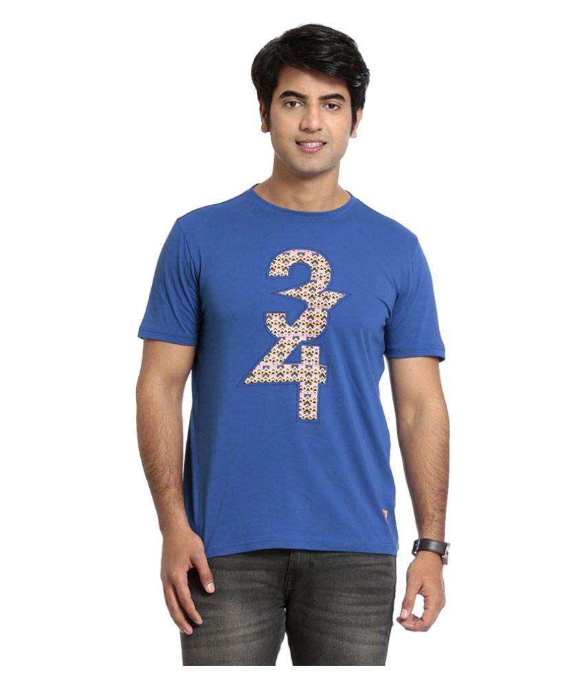 Seven Blue Round T-Shirt