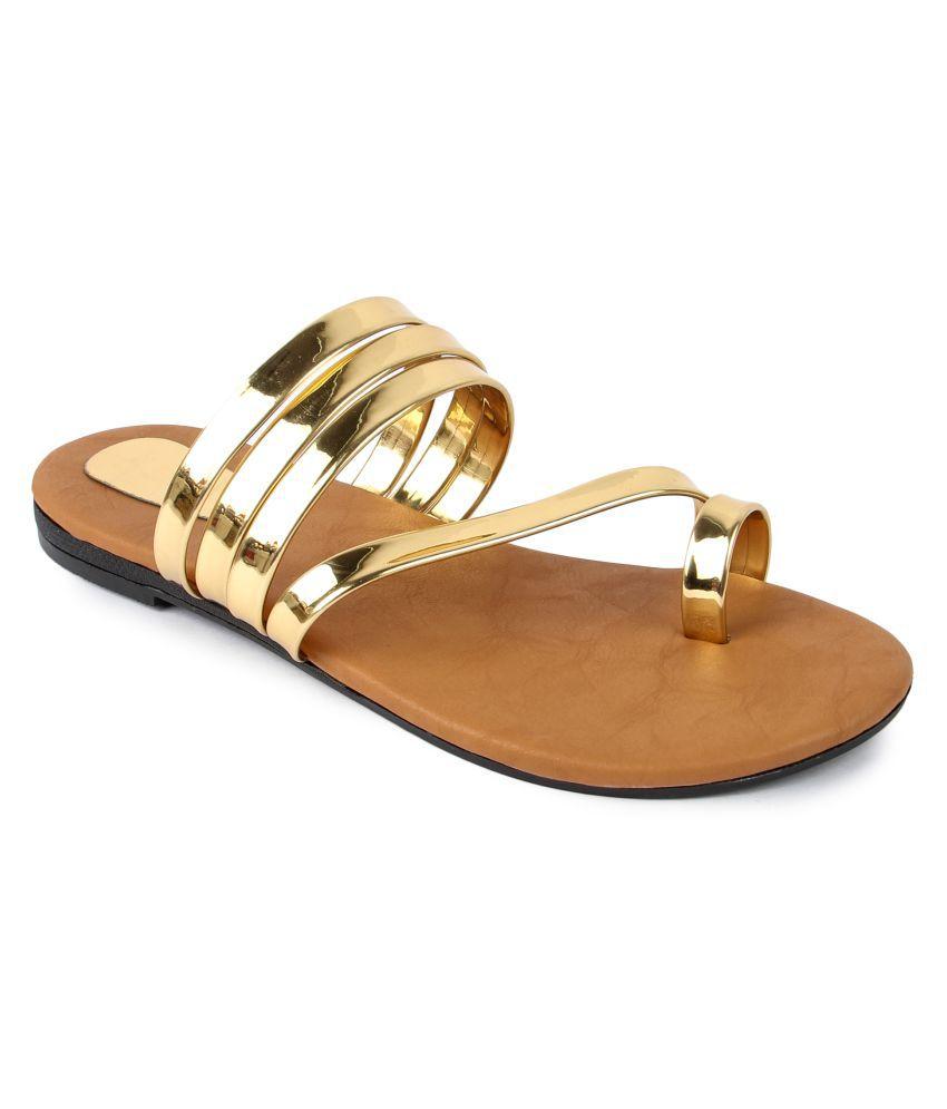 Bapu Beta Gold Flats