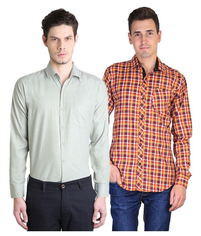 Van Galis Multi Formal Regular Fit Shirt Pack of 2