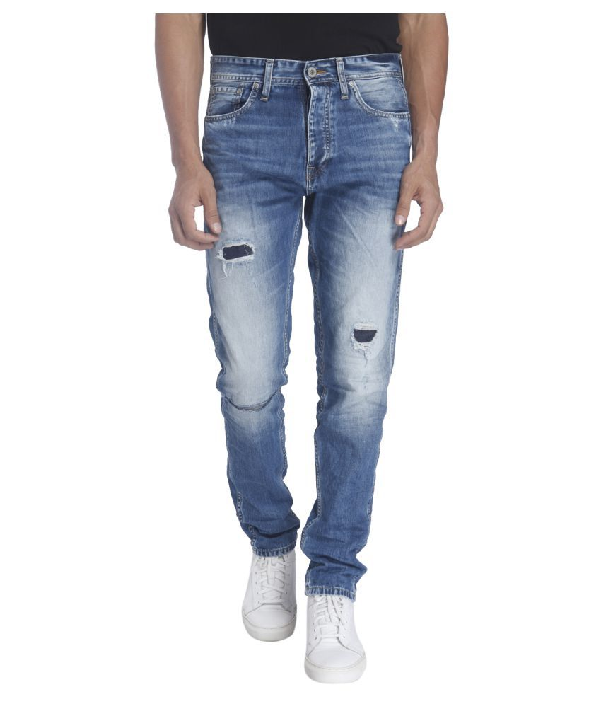 Jack & Jones Blue Anti Fit Solid Jeans