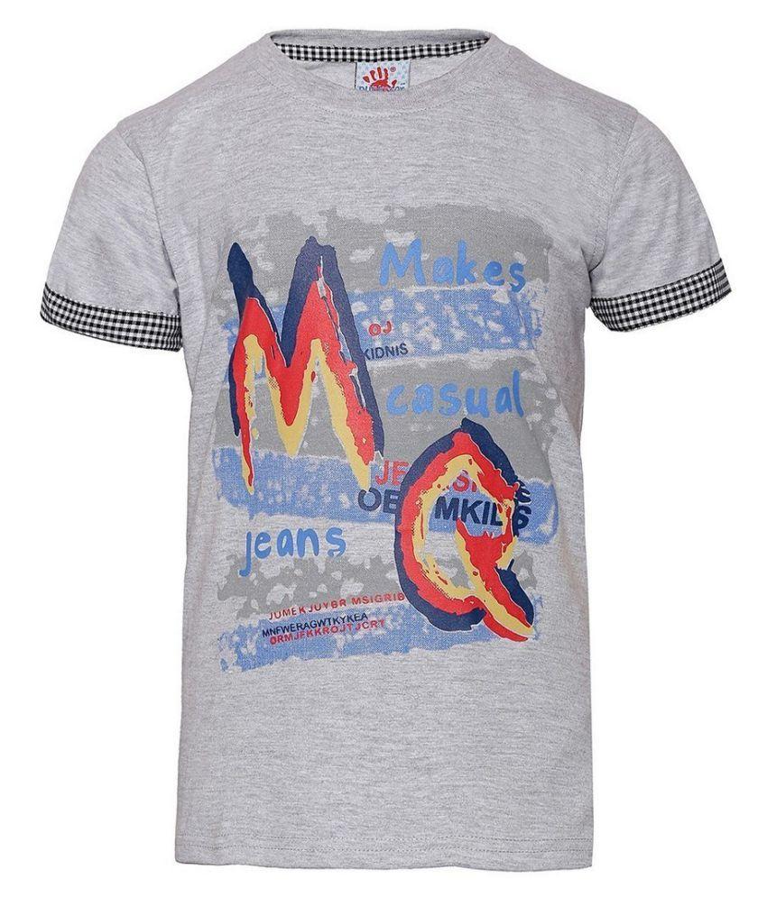 Punkster Grey Round T-Shirt