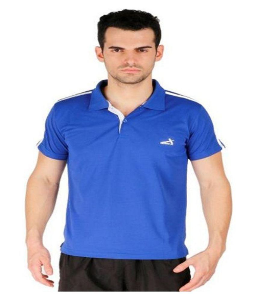 Vector X Blue Polyester Polo T-Shirt Single Pack