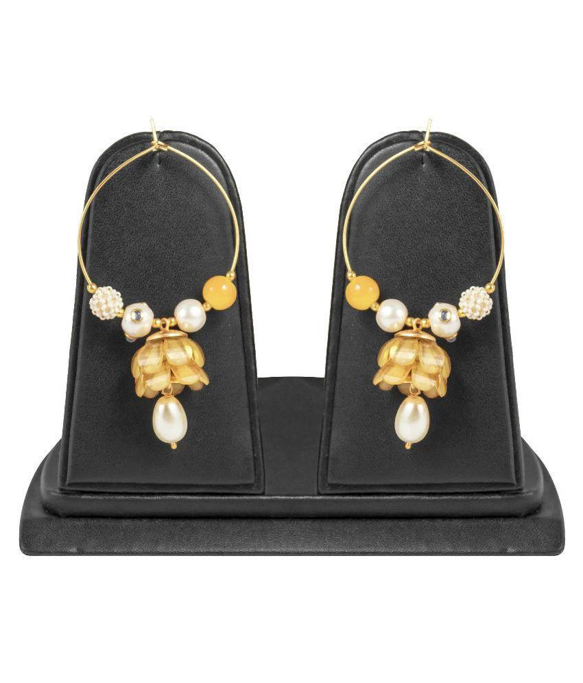 Jewels Gold Multicolour Jhumkis