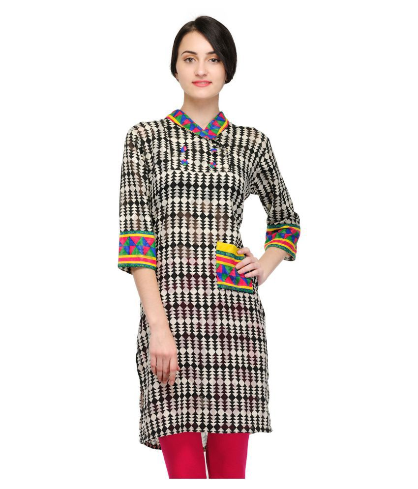 Maxtree Multicoloured Cotton Straight Kurti