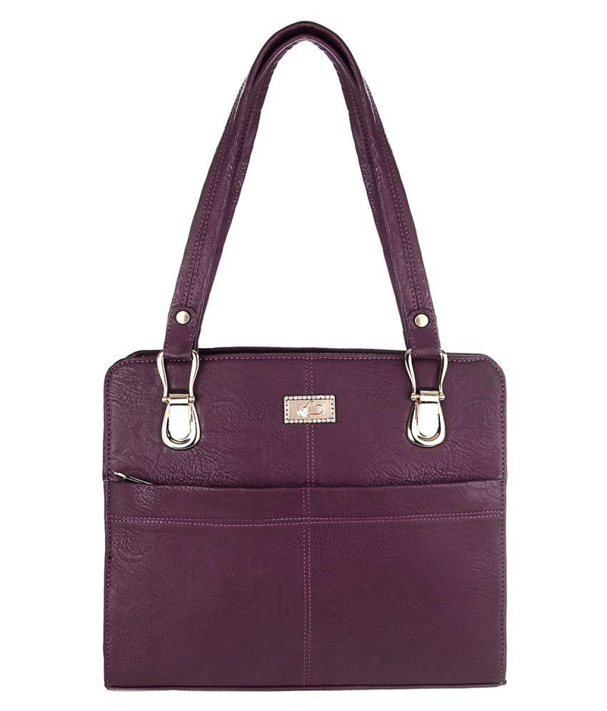 The Blue Pink Purple P.U. Shoulder Bag