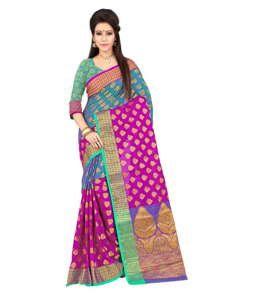 Envogue Multicoloured Silk Saree