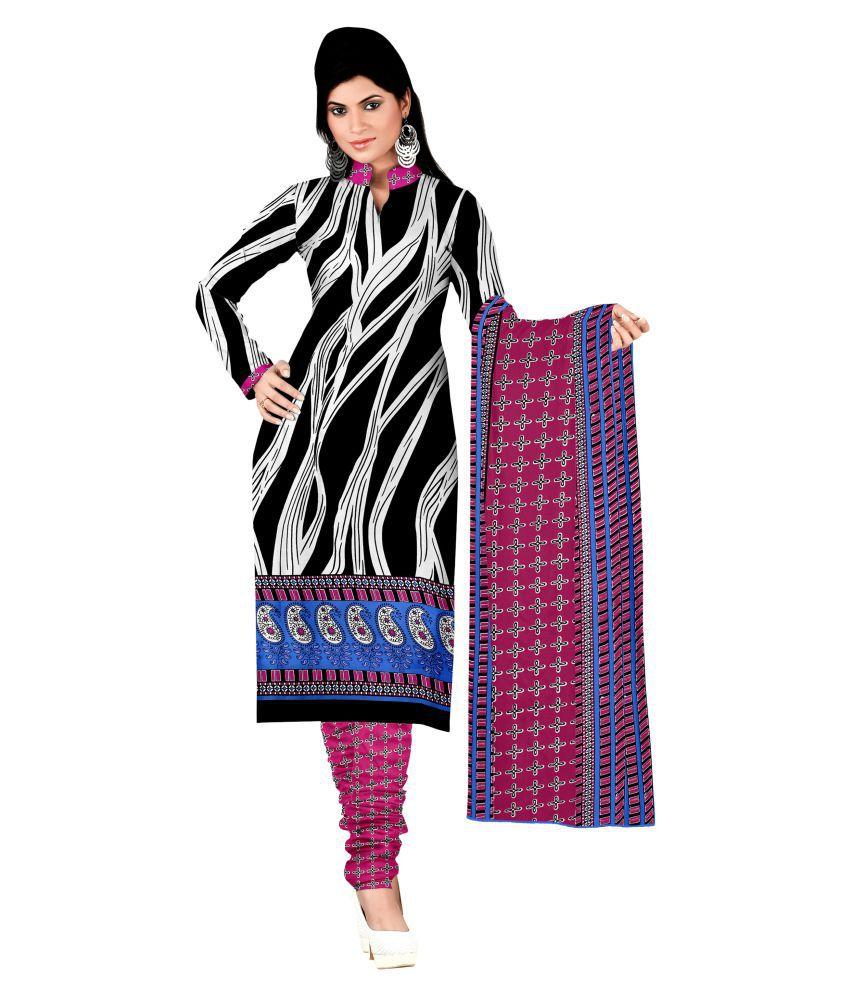 Kalish Multicoloured Crepe Dress Material