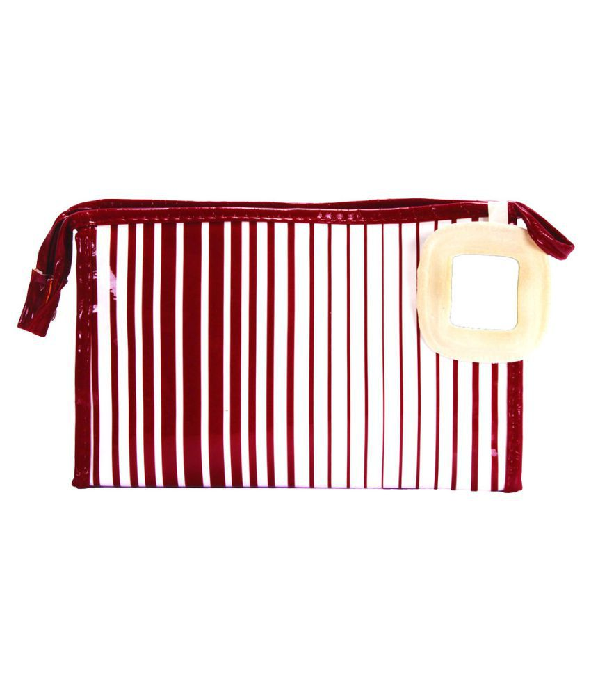 Prettykrafts Maroon Vanity Kit and pouches - 1 Pc