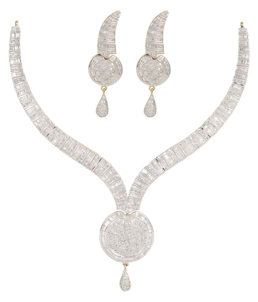Silverwala 9k BIS Hallmarked Silver Necklace Set