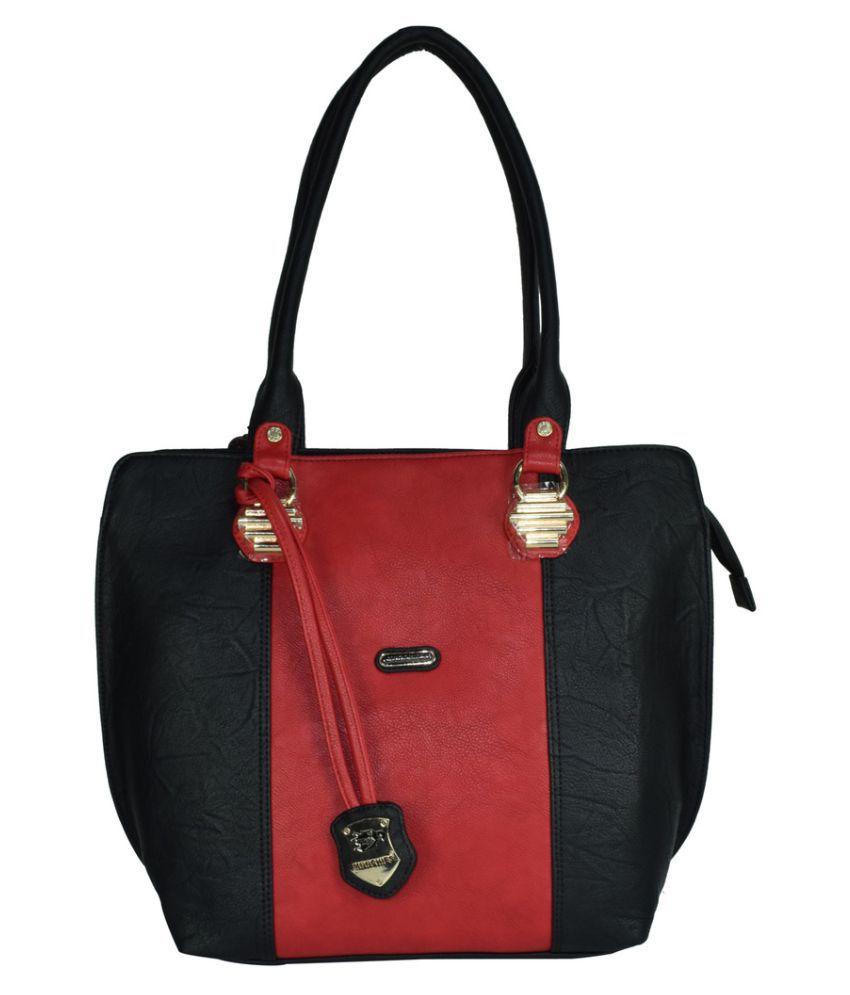 Moochies Black Faux Leather Shoulder Bag