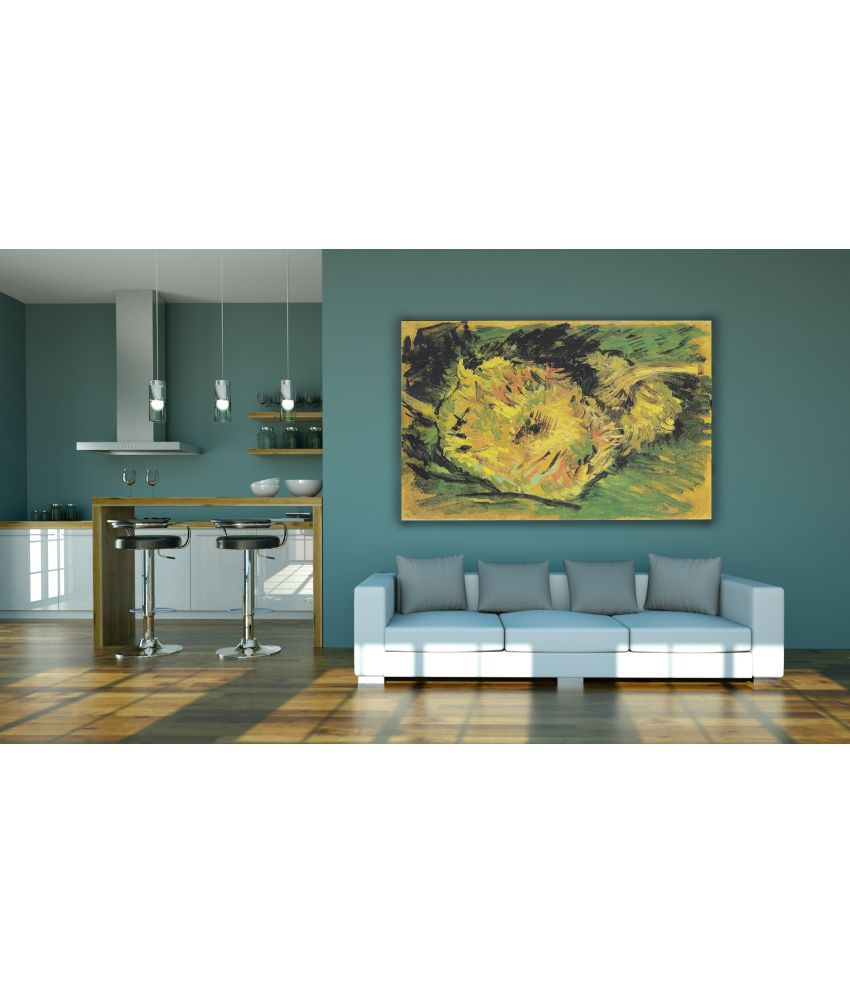 Canvs Sunflowers, study (F.377) Wood Art Prints With Frame Single Piece