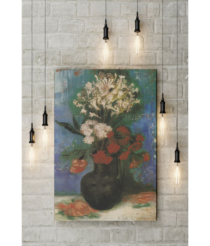 Canvs Vase of carnations and other flowers, 1886 Wood Art Prints With Frame Single Piece