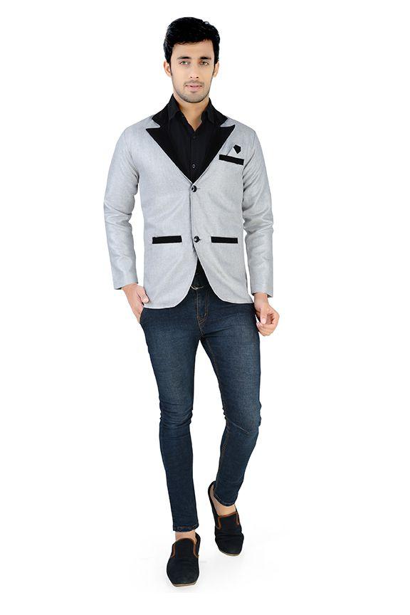 Nu Abc Garments Grey Solid Party