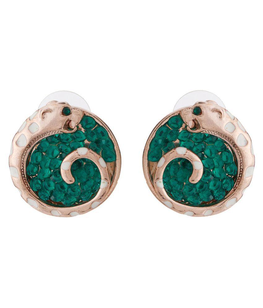 Jazz Jewellery Green Studs