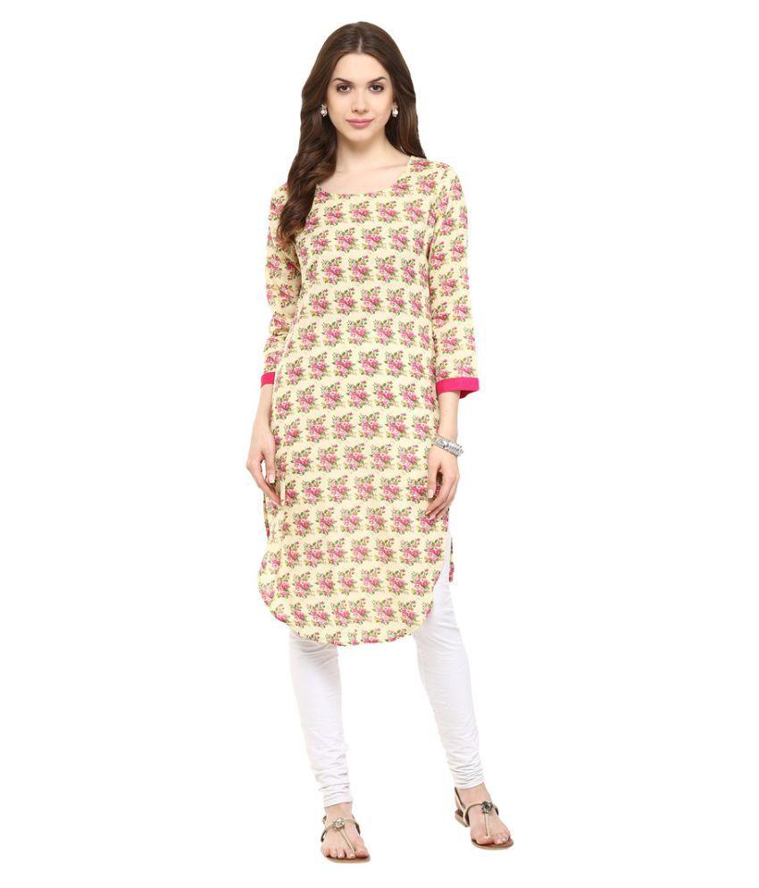 Chitwan Mohan Multicoloured Cotton Straight Kurti