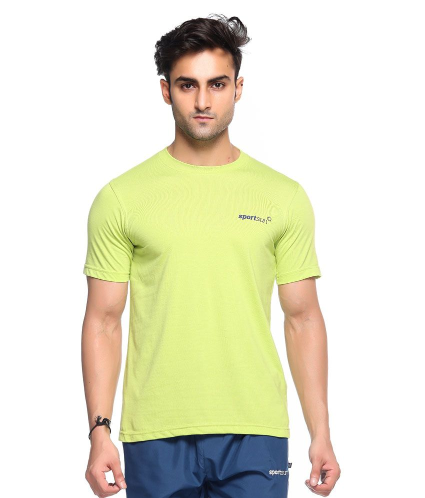 Sport Sun Green Polyester T-Shirt Single Pack