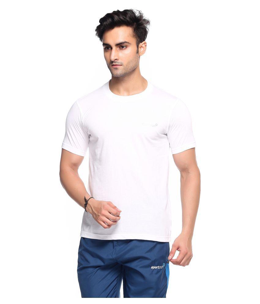Sport Sun White Polyester T-Shirt Single Pack