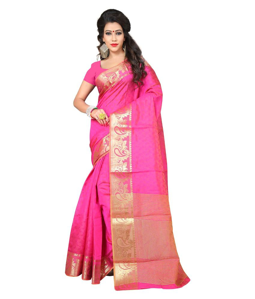 Ganga Shree Pink Cotton Silk Saree