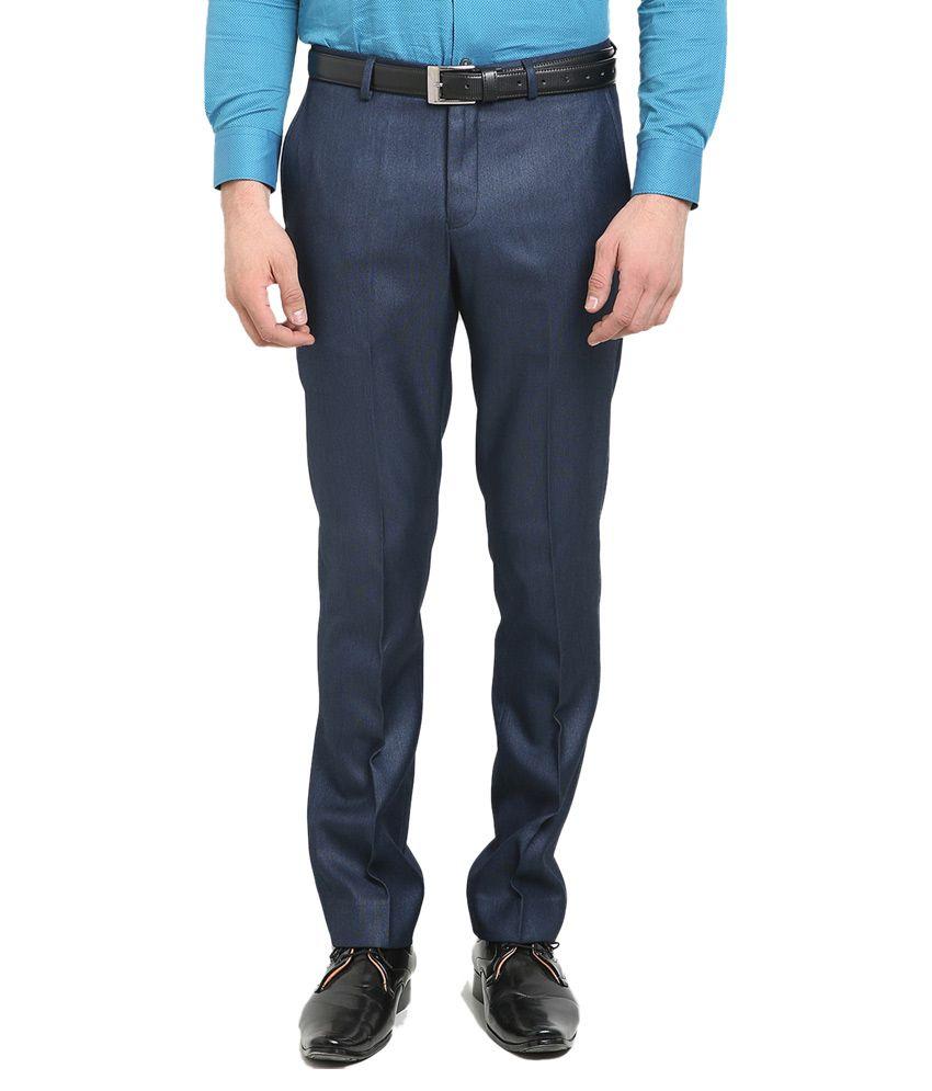 Blackberrys Navy Blue Skinny Flat Trouser