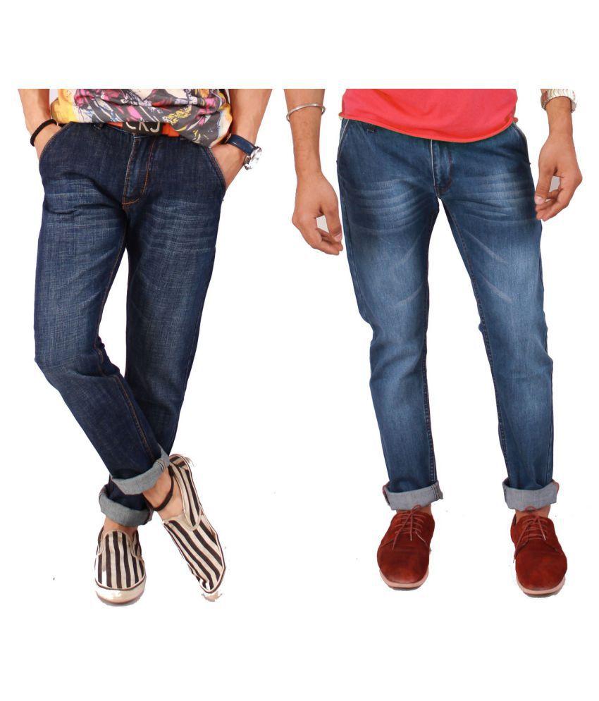 Flutter Blue Regular Fit Solid