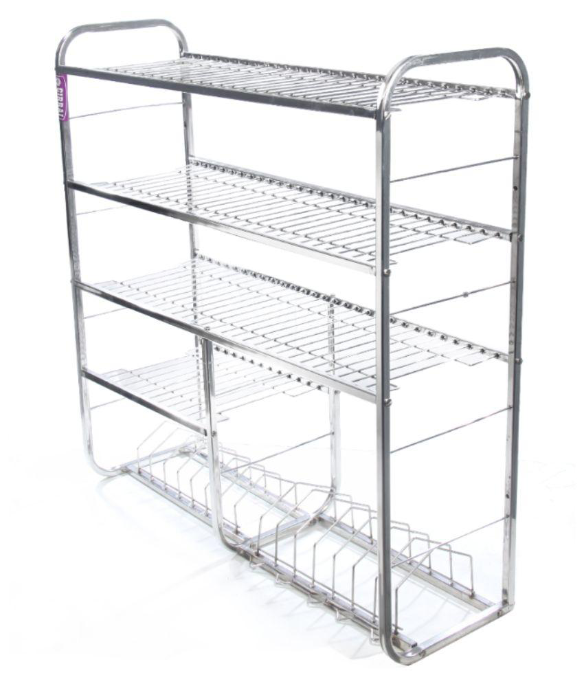 sapphire silver stainless steel kitchen stand