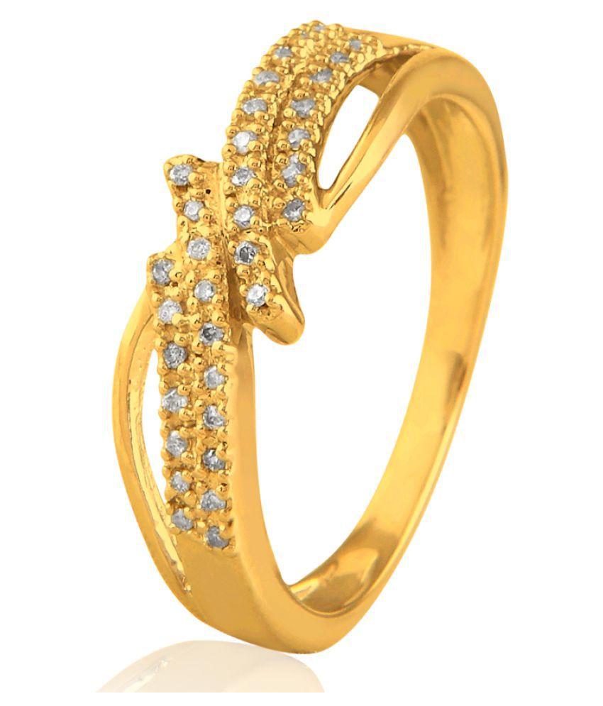 Sparkles 10K Yellow Gold Diamond Ring