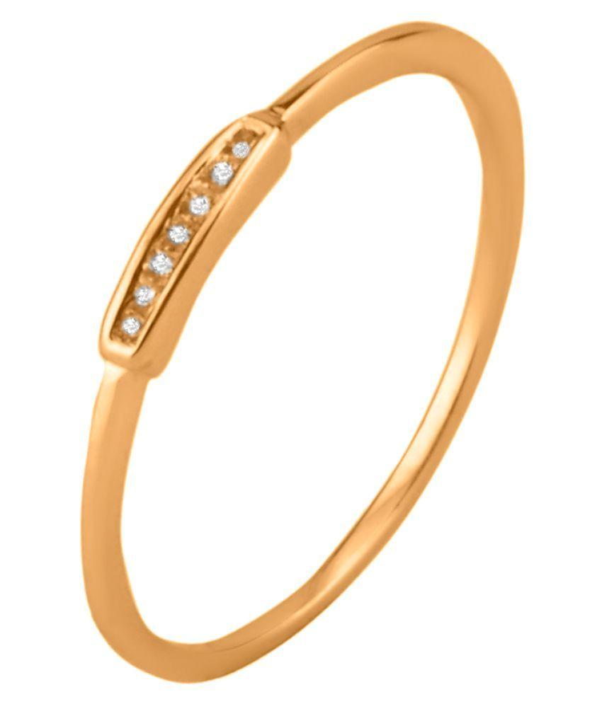 Sparkles 14K Rose Gold Diamond Ring