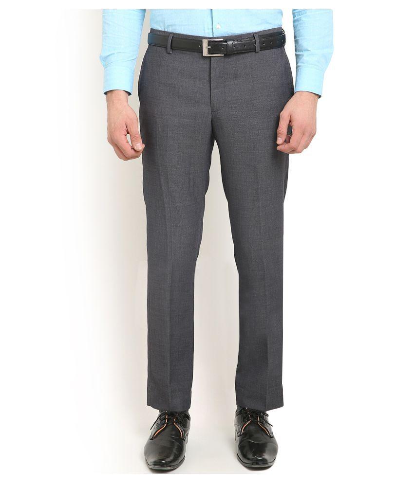 Blackberrys Grey Skinny Flat Trouser