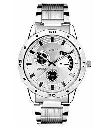 Laurels Matrex Silver Dail Men's Analog Watch
