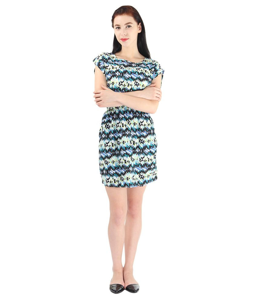 76560f92d09 Pepe Jeans Blue Printed Shift Dress available at SnapDeal for Rs.1999