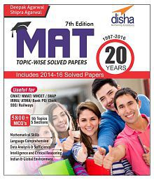 MAT 20 years Topic-wise Solved Papers (1997-2016) 7th Edition