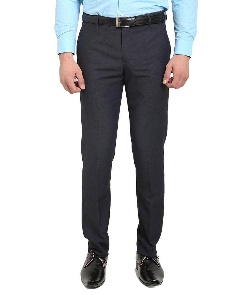 Blackberrys Blue Skinny Flat Trouser