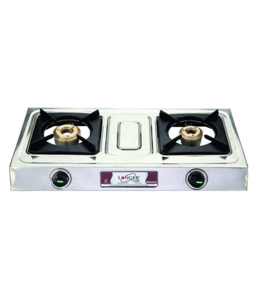 Longer Eco SS 2 Burner Gas Cooktop