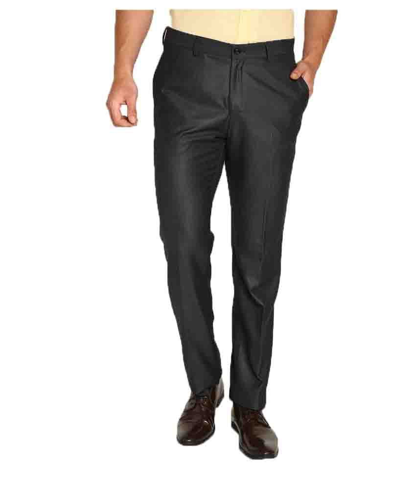 Blackberrys Black Slim Flat Trouser