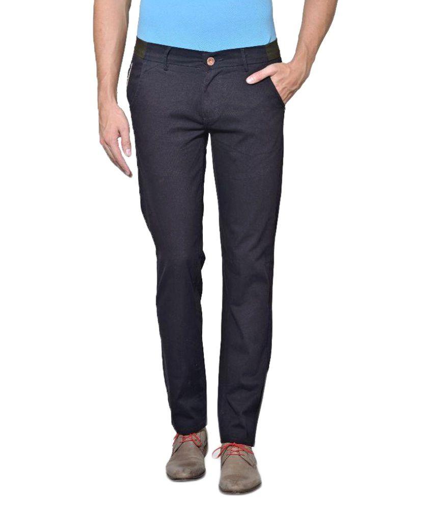 Azov Fashions Black Slim Fit Trouser