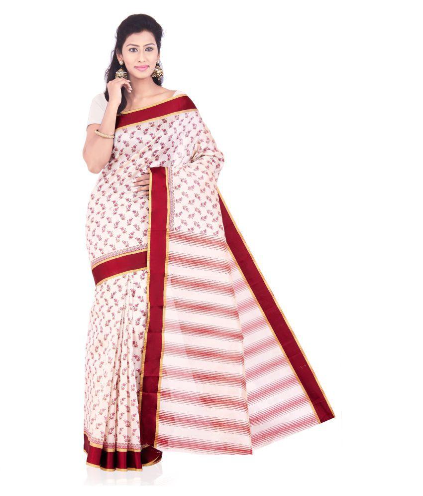Roopkala Silks and Sarees Multicoloured Silk Blends Saree