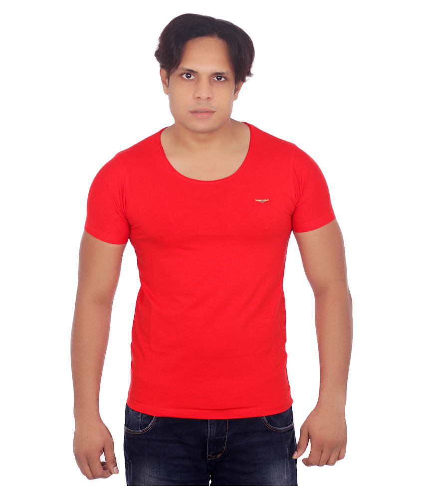 Fashion Monster Red Round T-Shirt