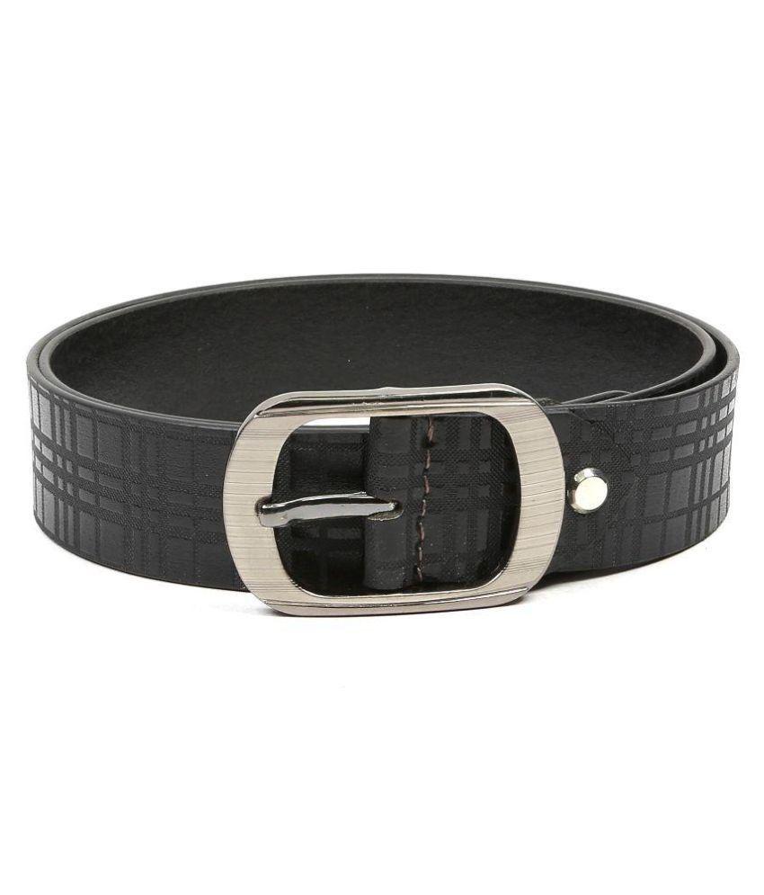 Leather Junction Black Leather Formal Belts