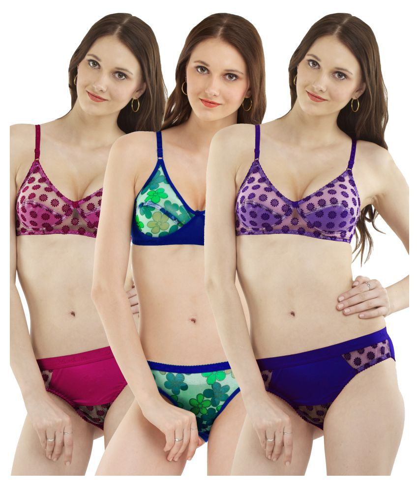 a0a71e6726 Buy Madam Multi Color Polyester Bikini Panties Online at Best Prices in  India - Snapdeal
