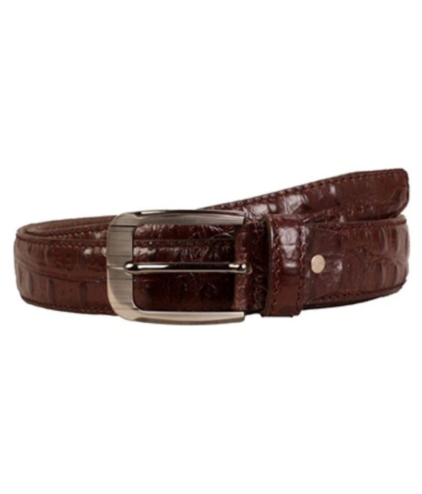 Scharf Brown Leather Formal Belts