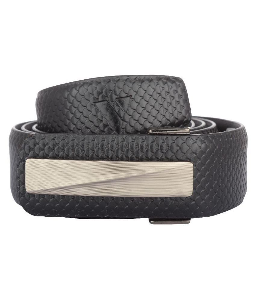 Vestire Black Leather Formal Belts