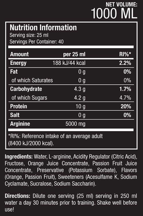 scitec nutrition arginine liquid orange 1000ml scitec nutrition arginine liquid orange 1000ml