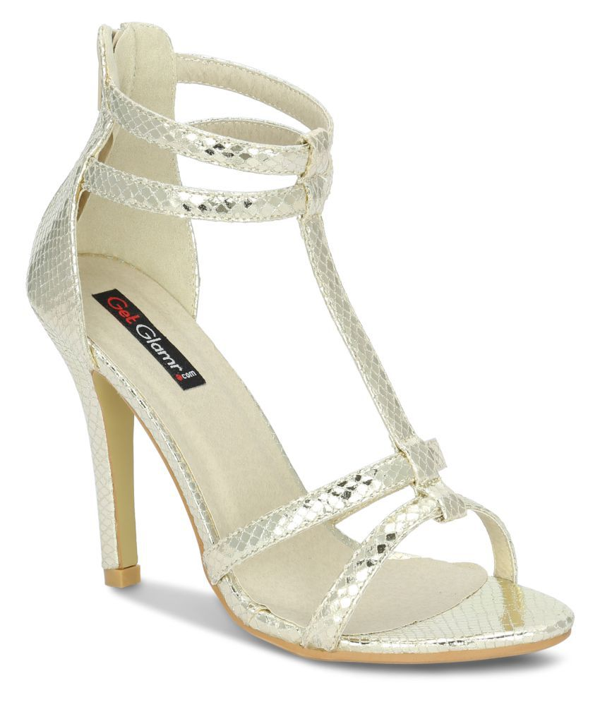 Get Glamr Gold Stiletto Heels