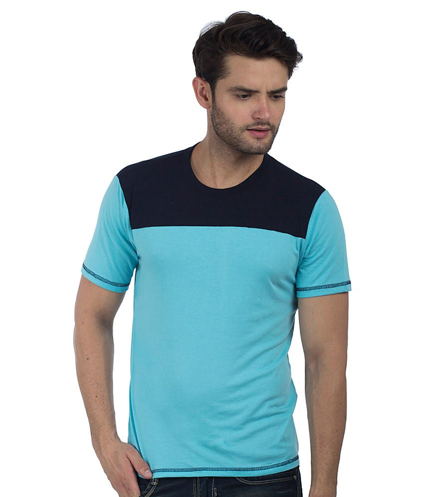 Five-Stones Blue Round T-Shirt